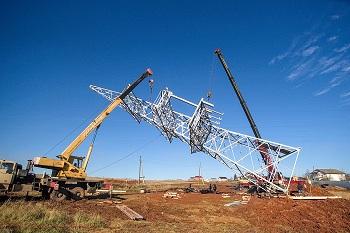 Строительство воздушных линий электропередачи