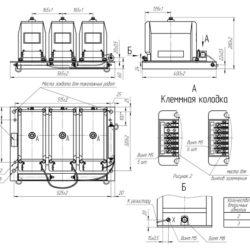 Устройство трехфазной группы измерительных трансформаторов