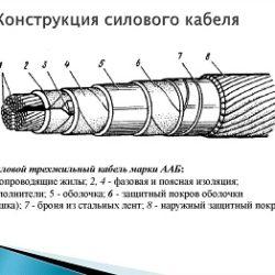 Выбор конструкции, сечения кабеля при проектировании
