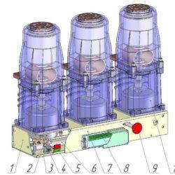 Устройство вакуумного выключателя типа ВВМ-СЭЩ-3-10