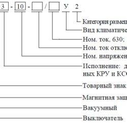 Вакуумный выключатель типа ВВМ-СЭЩ-10, описание, назначение
