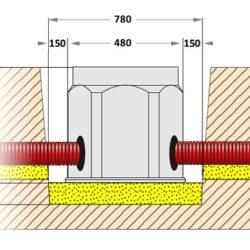 Установка кабельного колодца из полиэтилена