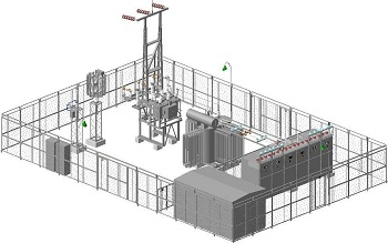 Генеральный план строительства подстанции