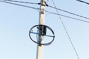 Подвес волоконно-оптического кабеля по опорам ВЛ