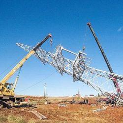Сборка и установка опор воздушной линии электропередачи